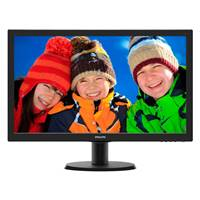 "Монитор Philips 23.6"" 243V5LSB (00/01) черный TN+film LED 5ms 16:9 DVI матовая 250cd 1920x1080 D-Sub FHD 3.66кг"